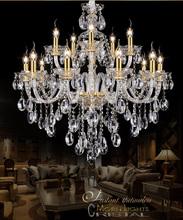 European Gold crystal Large chandelier 15 Arm Luxury Modern Chandelier Lighting fashion Luxury Gold transparent K9 Crystal (China (Mainland))