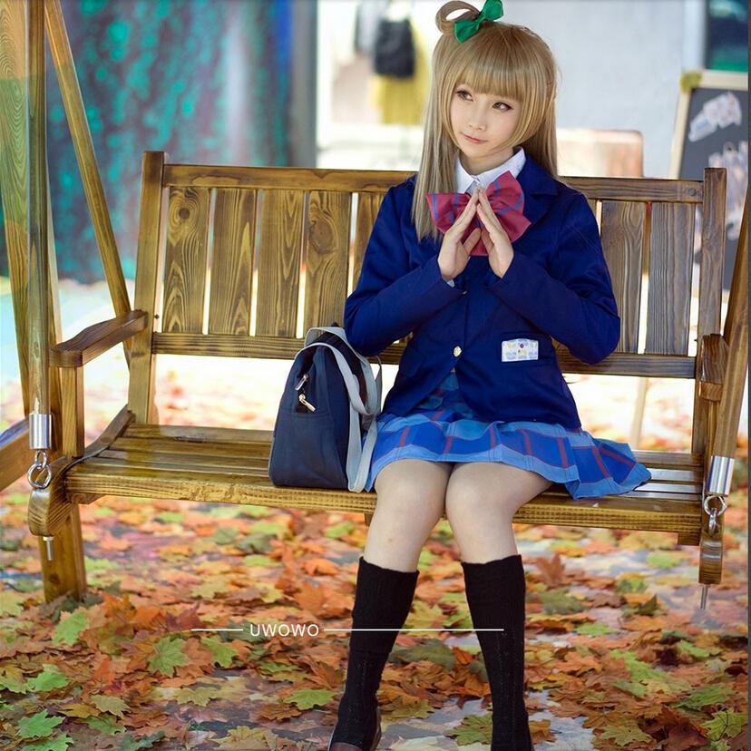Lovelive / Love Live Cosplay Otonokizawa High School Costume Blue Uniform Without Bowknot - UWOWO store