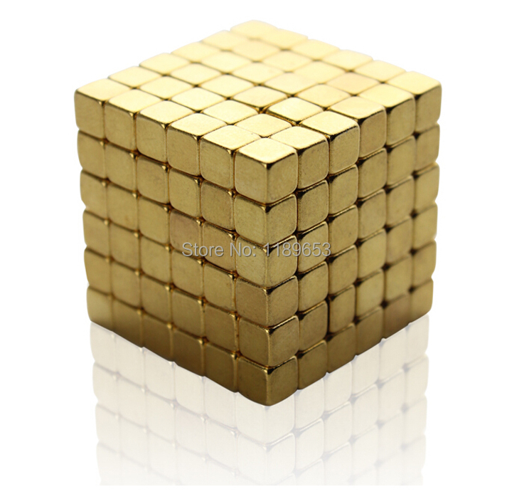 Free shipping 216 pcs/set 5mm Buckyballs Magnetic Square Balls Sphere Cube Puzzle Magico cubo Neocube Intelligence Toy(China (Mainland))
