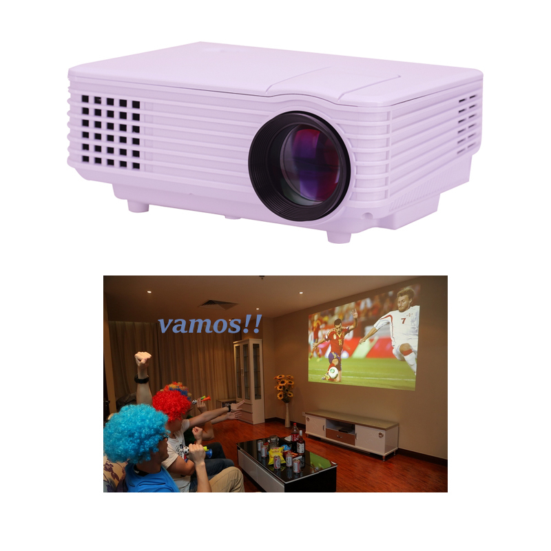 NEW! Mini Digital LED HD Projector with HDMI Home theater cinema projector Proyector beamer 2000lumens USB 3000:1 cheap better(China (Mainland))