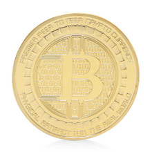 Ootdty монет Позолоченные анонимный мяты Bitcoin Юбилейные Монеты Коллекция сувенир(China)