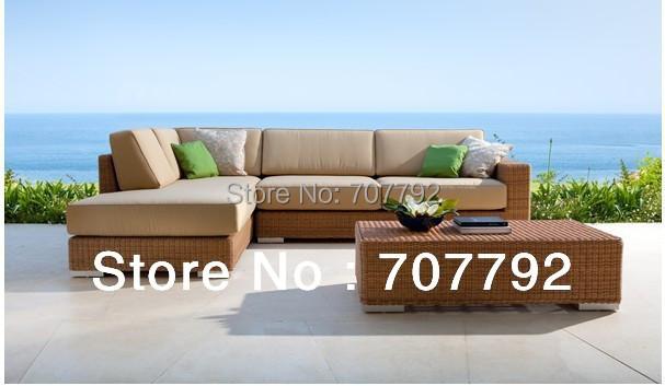 2014 New Design Outdoor Furniture PE Vine Wicker Sofa Setting Group(China (Mainland))