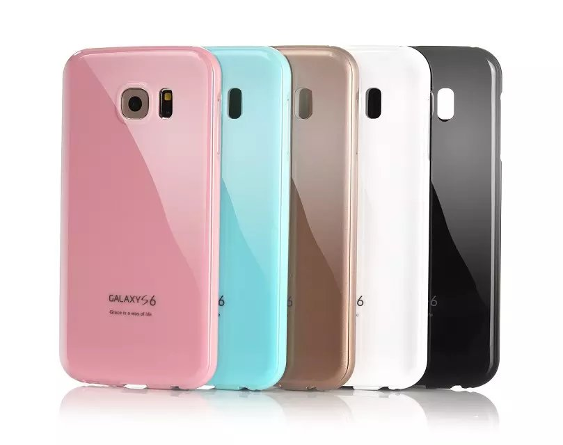 S6 Case high quality Metal Aluminum Frame + Piano Paint Arc back Cover Phone case For Samsung Galaxy S6 Set Phone Case(China (Mainland))