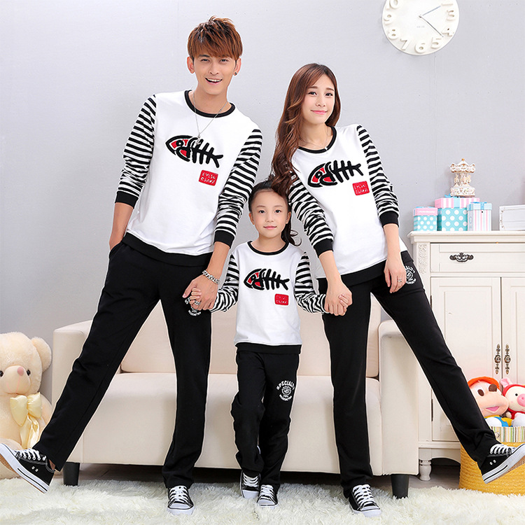 Pant sets outfits fashion color stripe family matching outfits 3 pieces pants  <br><br>Aliexpress