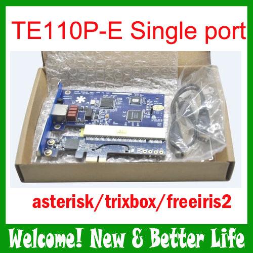5pcs/lot TE110P-e E1 asterisk card T1 card J1 card ISDN PRI card support SS7 voip ippbx call center trixbox elastix(China (Mainland))