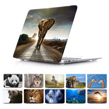 Wildlife Elephant Giraffe Dolphin Dog Animal Prints Case Sleeve For macbook pro 13 15 12 with retina macbook air 11 13 case(China (Mainland))