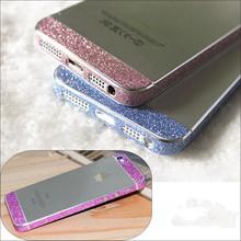 For iPhone 4 4s Glitter Bling Diamond Side Edge Back Cover Rhinestone Deco Mobile Phone Bling Skin Sticker For Apple iPone 4 4s(China (Mainland))