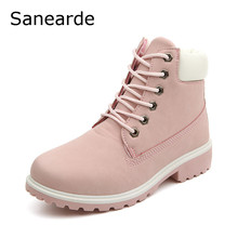 2016 New Women Winter Boots Fashion Zapatos Mujer Ankle Boots for Women round toe woman Snow Boots Donna Martin Boots(China (Mainland))
