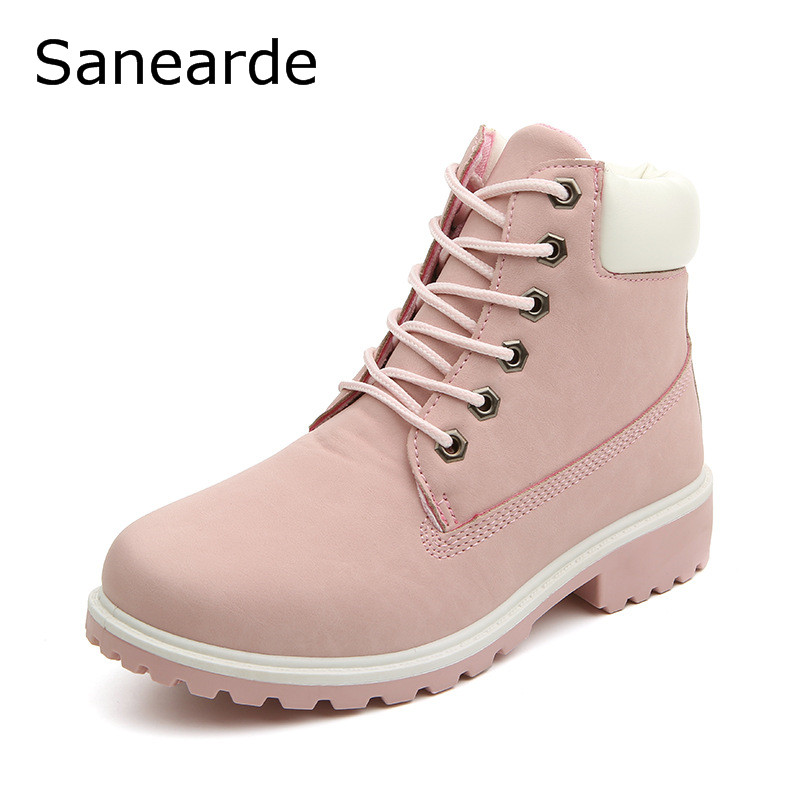2016 New Women Winter Boots Fashion Zapatos Mujer Ankle Boots for Women round toe Shoes woman Snow Boots Donna Martin Boots(China (Mainland))