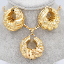 Sunny Jewelry Exquisite Jewelry Sets For Women Gift Big Hoop Earrings Pendant Necklace Copper Ball For Party Vintage Jewelry(China (Mainland))