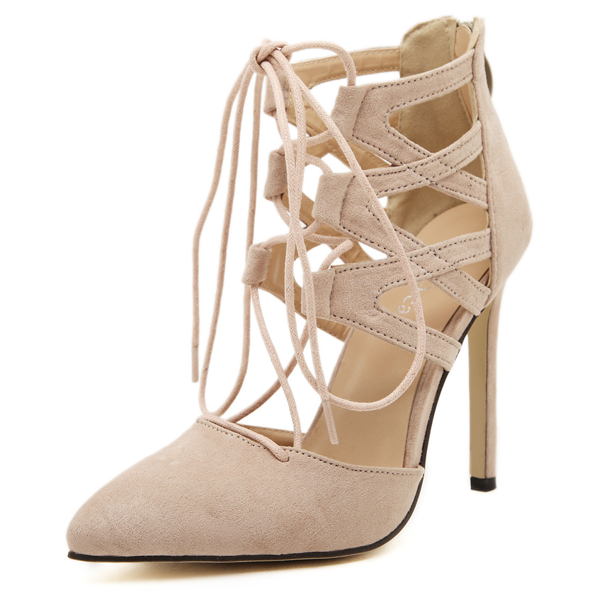 Nude High Heel Pumps