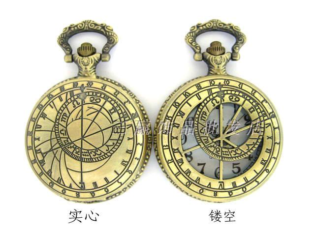 Vintage Large solid compass pocket watch necklace camel table rahb262b(China (Mainland))