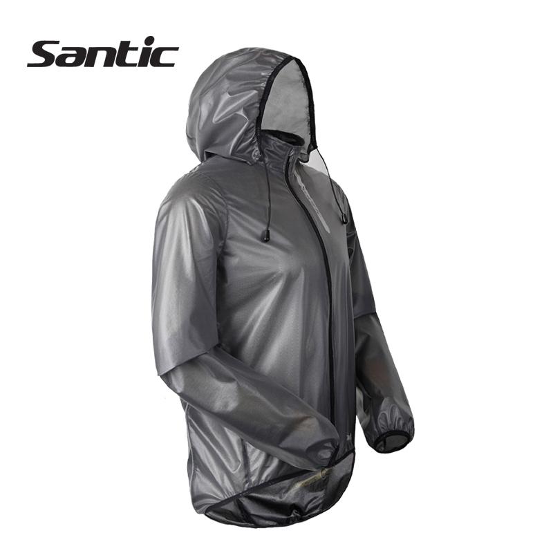 SANTIC Men Cycling Jacket Hooded Gray Sports MTB Bicycle Rain Wind Coat Fixed Gear Road Bike Jersey Tops Clothing - Sunshine Outdoor CO., LTD store
