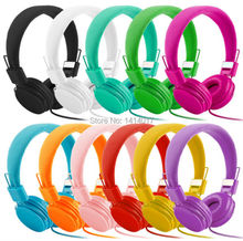 3.5mm Folding Stereo Headphones Earphones For PC iPhone Samsung HTC Sports headset with microphone cable control for cell phones