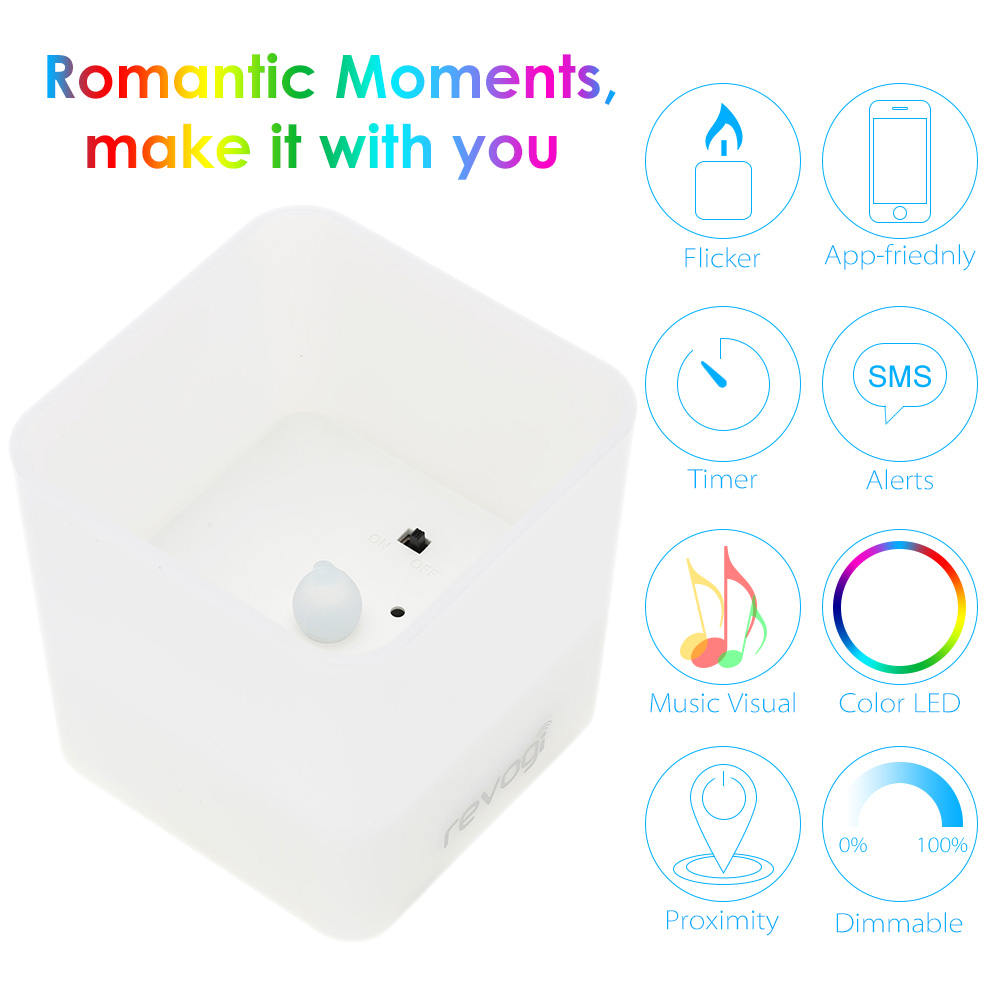 Revogi Bluetooth Smart Color Candle LED Bulb Dimmable Low Energy Wireless Lightbulb Android 4.3&iOS APP Control(China (Mainland))