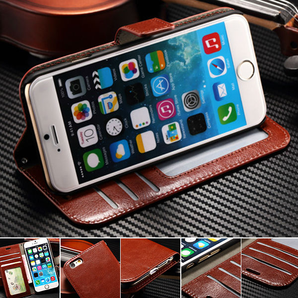New Retro Book Stand Design PU Leather Phone Bag Case For iPhone 6s iPhone6s 4.7 inch Flip Cover With Credit Card Slot Hand Rope(China (Mainland))