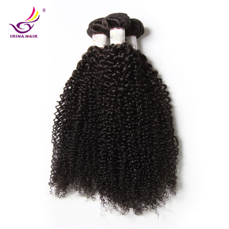 Grade7A mongolian Kinky Curly hair 3pcs/lot curly virgin hair weave cabelo humano afro kinky curly hair weft tissage bresilienne<br><br>Aliexpress