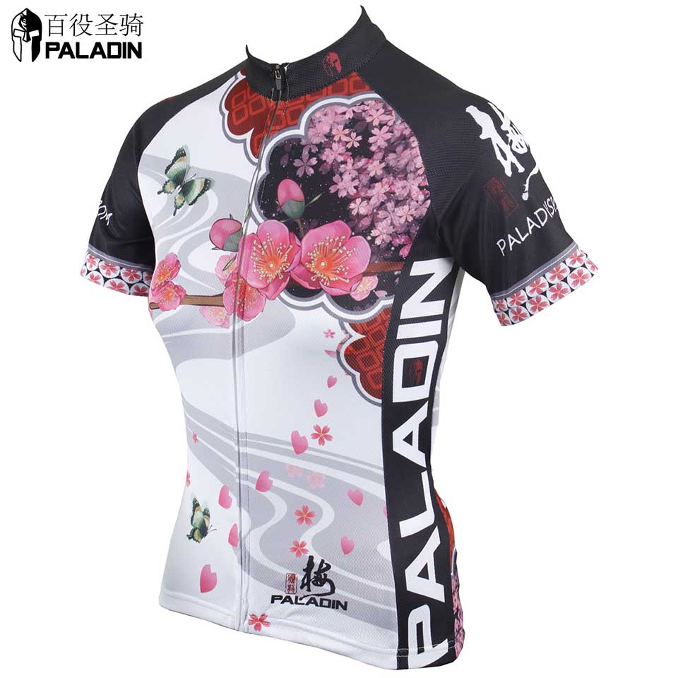 Women cycling jersey 2015 NEW Sport clothes short sleeve Riding jersey Blue High quality PALADINsports Flower series Lily<br><br>Aliexpress