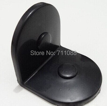 Nylon corner public toilet partition accessories black plastic fixed offset connector(China (Mainland))