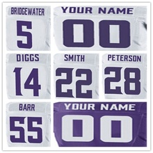 yingyuanFang 100% Stitched Men's #28 Adrian #55 Anthony #5 Teddy #14 Stefon #22 Harrison Elite White Purple Jersey(China (Mainland))
