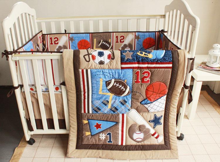 Set Sport Baby Nursery Cot Bedding Crib Per Quilt Ed Sheet