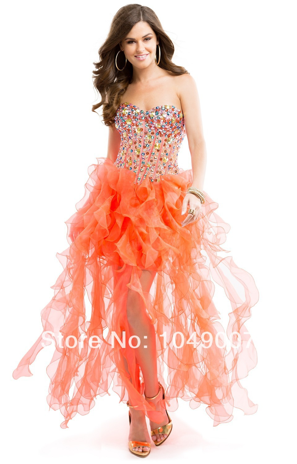 the gallery for gt neon orange prom dresses 2014