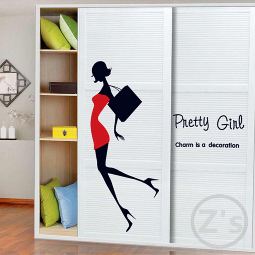 mannequin for clothes wall sticker home decor diy adhesive art mural picture poster removable vinyl wallpaper AY7080(China (Mainland))