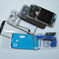 Full Housing Cover Middle Frame Battery Door Case Screen Glass Replacement for Samsung Galaxy S4 S