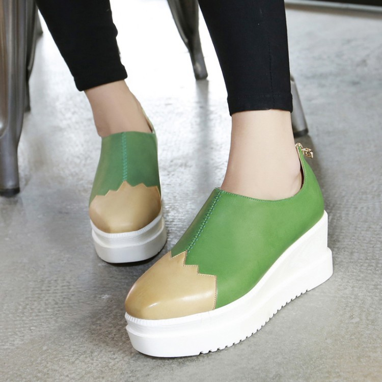 Фотография Heels Rushed Zapatos Mujer New Product 2015 Muffin Bottom Waterproof Color Shoes High-heeled Square Manufacturers Selling Wedges