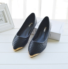 The new golden head flat shoes Korean flat shoes 35 40 218 2 shallow mouth documentary