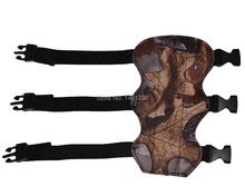 Free shiping leaves camouflage arm guards archery bow and arrow Armguards hunting sporting with 3 belts flexible adjustable