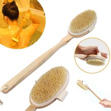 2pcs Natural Long Wood Wooden Body Bath Brush Massager Bath Shower Spa Scrubber Bath Accessories Body Scrub(China (Mainland))