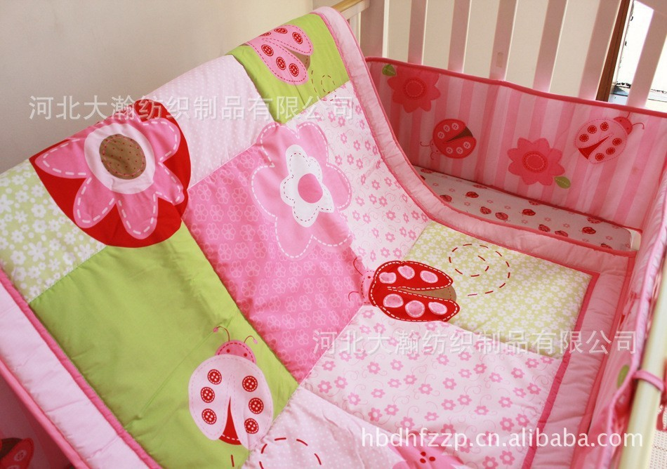 Country Flower Style Crib Bedding
