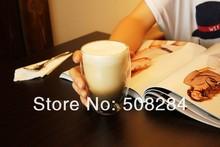 Free Shipping 2pcs wholesale Bodum 350ml tea Pavina Double Wall Espresso reusable Glass Coffee Cup Double Wall Glass(China (Mainland))