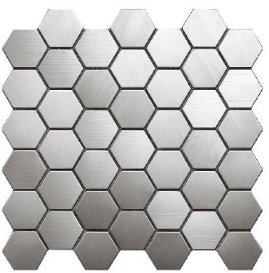 10 In Hexagon Floor Black And White