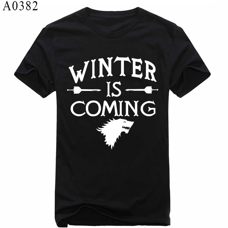 Games of Thrones Winter Is Coming The Stark A Song of Ice and Fire Men Shirts The Big Bang Theory T Shirt Arctic Monkeys Shirt(China (Mainland))
