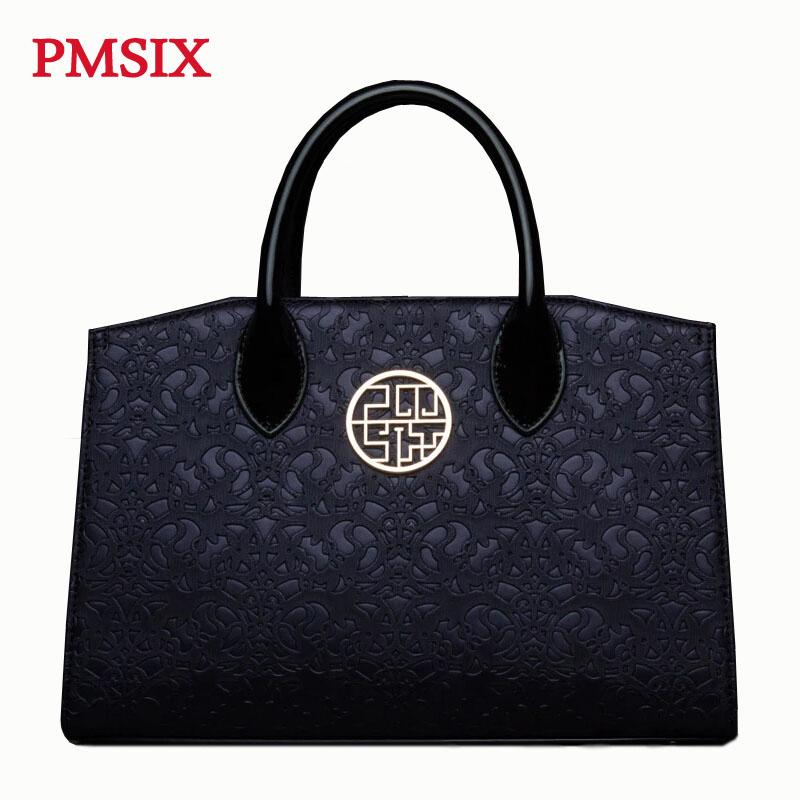 Фотография Pmsix Chinese Style Brand Handbags Women Bag Fashion High Quality Women Totes Handbag Vintage Women Shoulder Bags