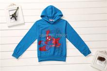In Stock! Boys Spider Hoodies, Children long-sleeve character top kid cartoon hoodies 5pcs/lot d464(China (Mainland))