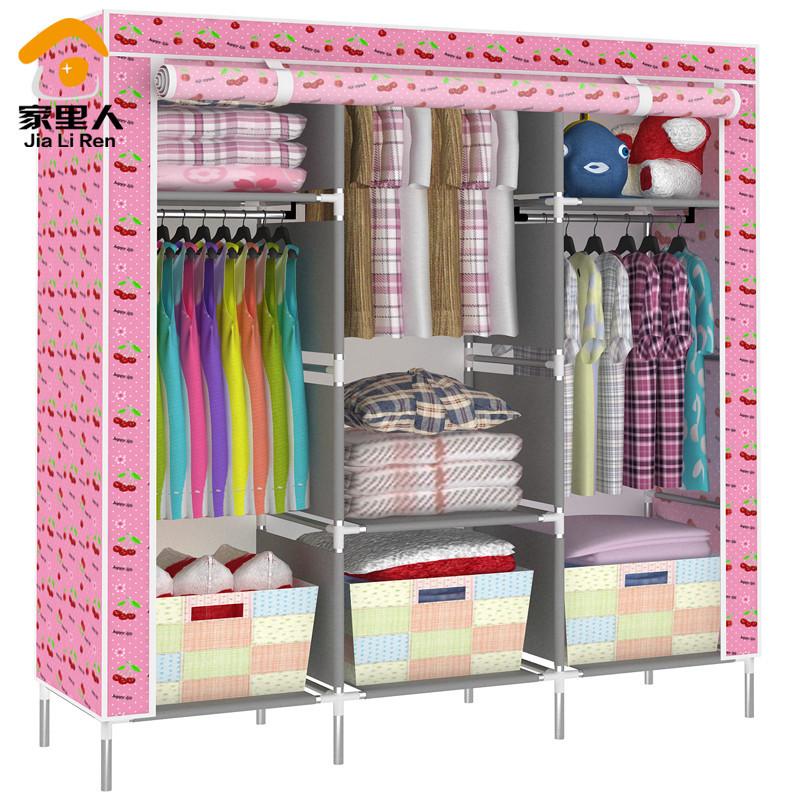 Family cloth wardrobe simple wardrobe combination folding multifunction storage closet 19 provinces shipping special offer(China (Mainland))
