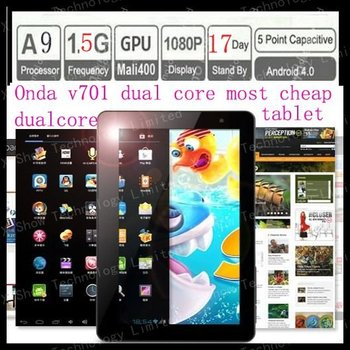 """limited supply Onda v701 dual core 1.5gmhz   7"""" Android 4.1 DDR3 8GB ROM Capacitive Tablet PC"""
