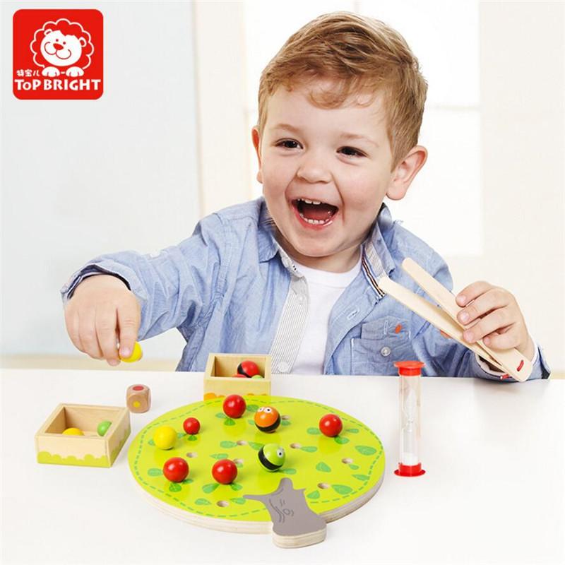 Kid's Soft Montessori Wooden Apple Picking Blocks Toy Set With Hourglass & Apple Tree WD234(China (Mainland))