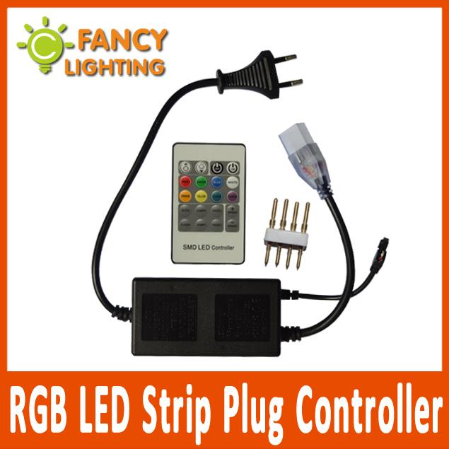 Hi Voltage Lamp : High quality rgb led strip plug controller for v