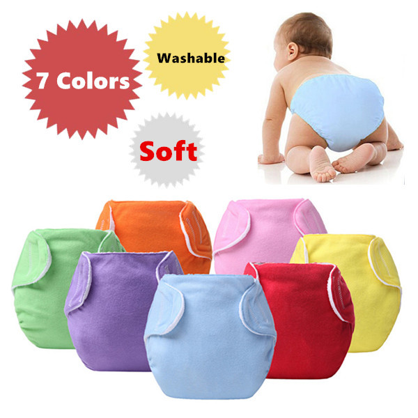 1 piece Baby Diapers/Children Cloth Diaper/Reusable Nappies/Adjustable Diaper Cover/Washable/Free Shipping(China (Mainland))