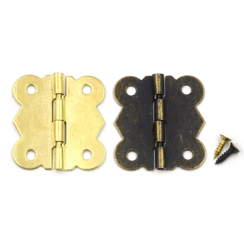 10pcs 30*25mm 180 Degrees Mix 2 colors Butterfly Iron Hinges Cabinet Drawer Door with Screw(China (Mainland))