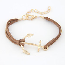 Anchor Bracelets For Women Men Fashion Charm Bracelets & Bangles Rope 8 Leather Masculina Jewelry Vintage Pulseira Pulsera Mujer(China (Mainland))