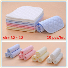 10 pcs / lot 4 color Baby Diapers Washable reusable Baby modern Cloth nappies care insert super-absorbency Size 16*47