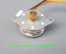 Импорт нмб 25 мм шаговый двигатель 4 5 провода тонкий шагового двигателя с редуктором 0.4 зуб