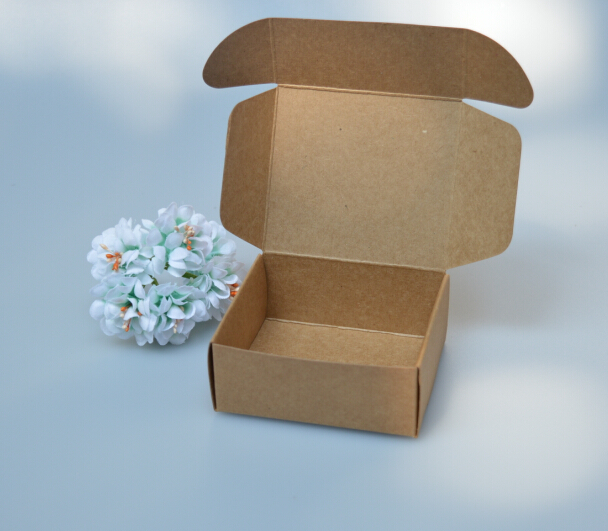 size: 7.3*5.8*2.6cm, paper box packaging , small kraft box , cardboard soap boxes(China (Mainland))