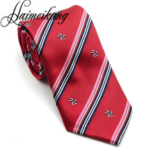 AWAYTR Striped Embroidery Men's Suits Necktie 2017 Fashion Vintage Upscale Polyester Yarn Neck Ties Mens Business Floral Tie