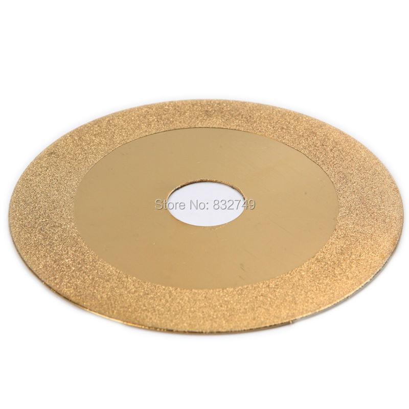 Free Shipping 1 PCS Gold Tone Diamond Cutting Wheel Saw Blade Cutting Disc Tools Dremel Metalworking Glass Tool